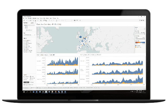 tableau online live dashboards