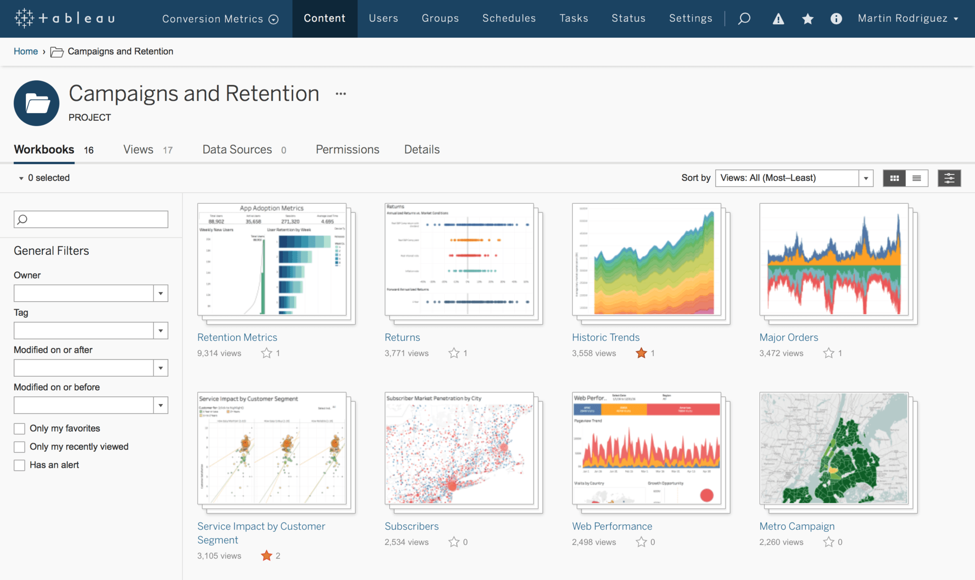 tableau server live dashboard