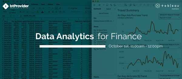 Data analytics for finance btProvider