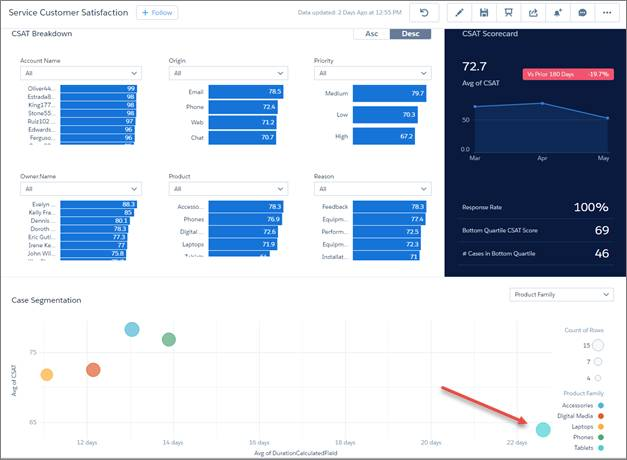 Salesforce Service Cloud Analytics btProvider