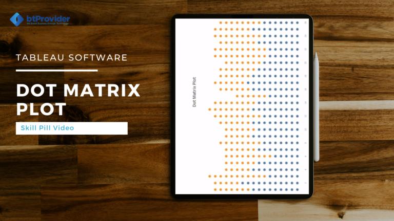 dot matrix plot tableau software btprovider