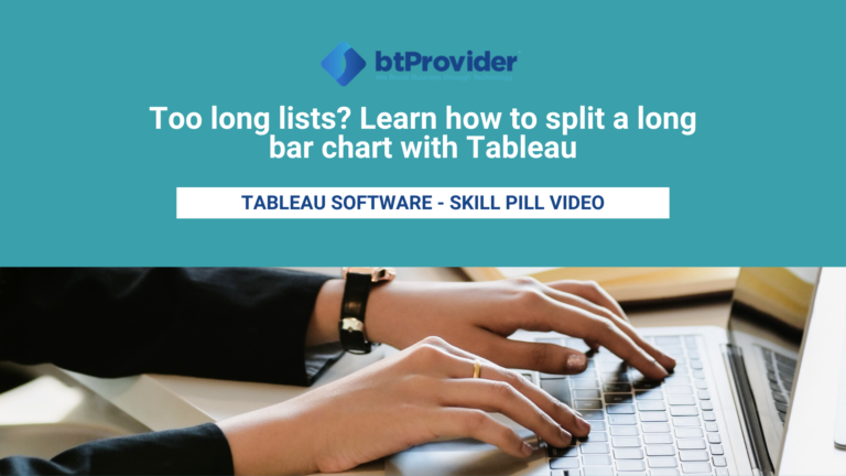 How to split a long bar chart in Tableau