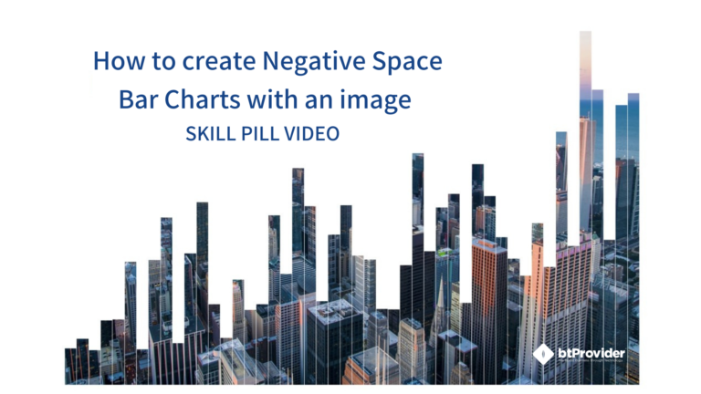 How to create Negative Space Bar Charts with an image