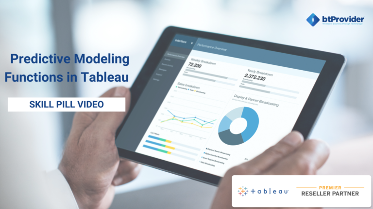 Predictive Modeling Functions in Tableau