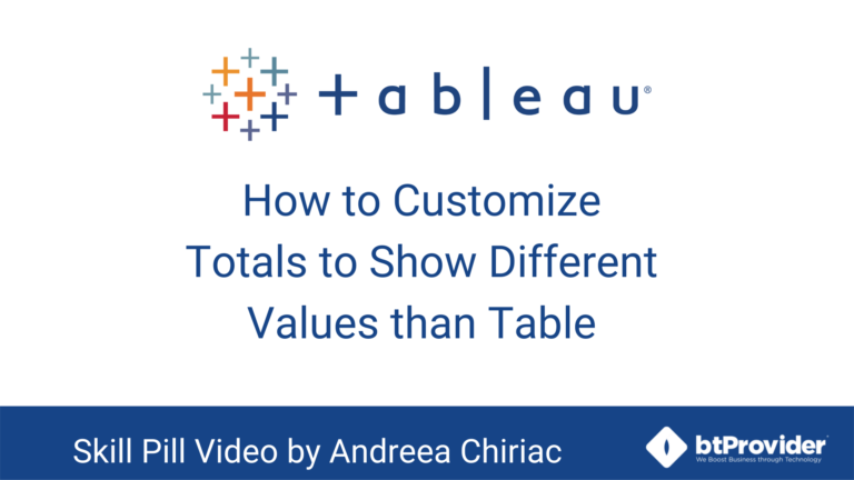 How to Customize Totals to Show Different Values Than Table