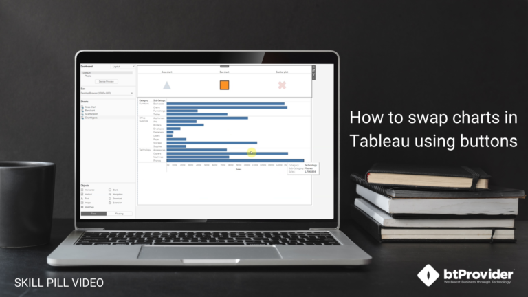 How to swap charts in Tableau using buttons